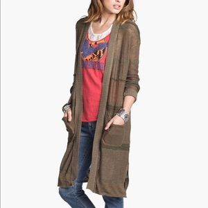 Free People High Tide Fatigue Longline Cardigan